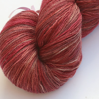 Pink Peppercorn - Superwash Bluefaced Leicester laceweight yarn