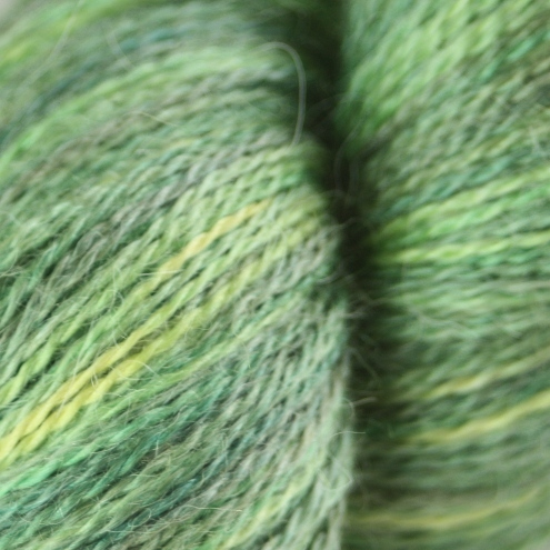 Lime 'n' Olives - silky baby alpaca laceweight yarn