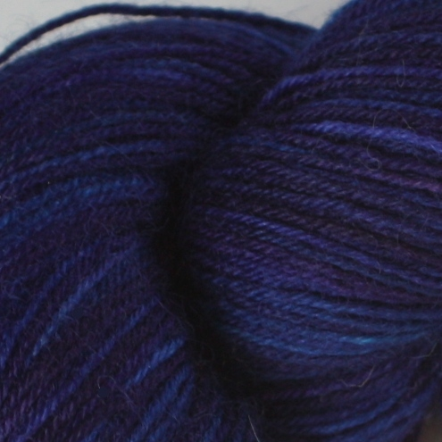 SALE - Midnight Parrotfish - Superwash British BFL sock yarn