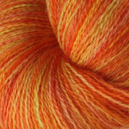 Fire festival - Bluefaced Leicester laceweight yarn