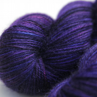 Stroke of Midnight - DK Superwash Bluefaced Leicester yarn