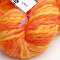 Firelight - Chunky merino wave wrap yarn