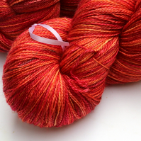 Poppies - Silky Superwash Bluefaced Leicester laceweight yarn