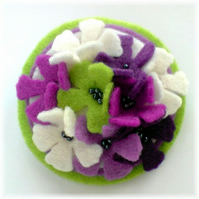 Lavender, Lime and Cream 'Little Lovelies' Brooch