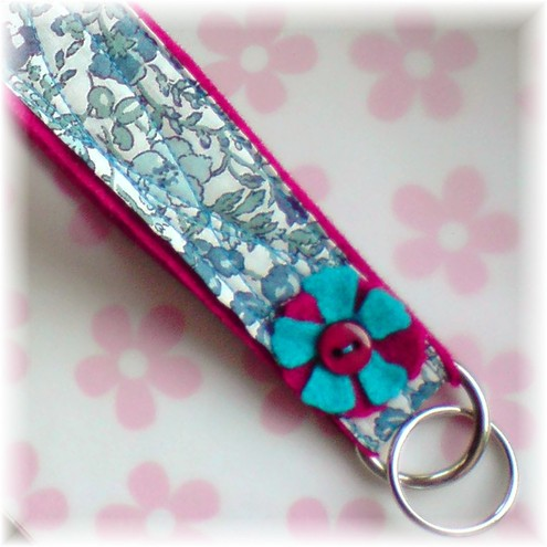 Blue and Pink Keyring / Wrist fob