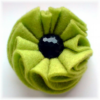 Lime Green 'Pompous' Brooch