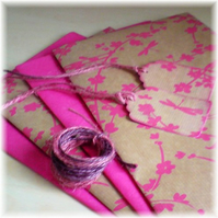 Pink Dragonfly Gift Wrap Set