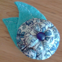 Fabric Flower Brooch - Small
