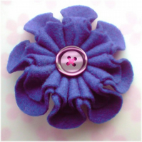 Felt Flower Brooch - Fluted Design!