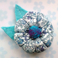 SALE PRICE - Fabric Flower Brooch
