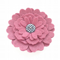 Felt Flower Brooch - 'HANA' in Pink