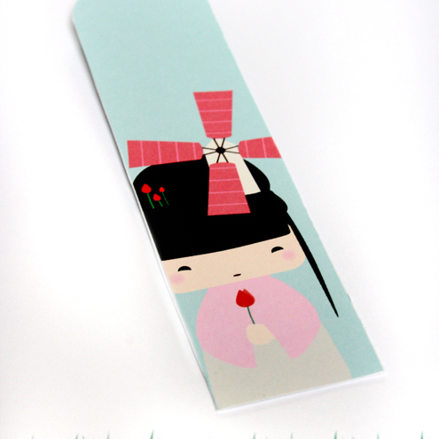 Bookmark, Kokeshi Girl, Print and Make