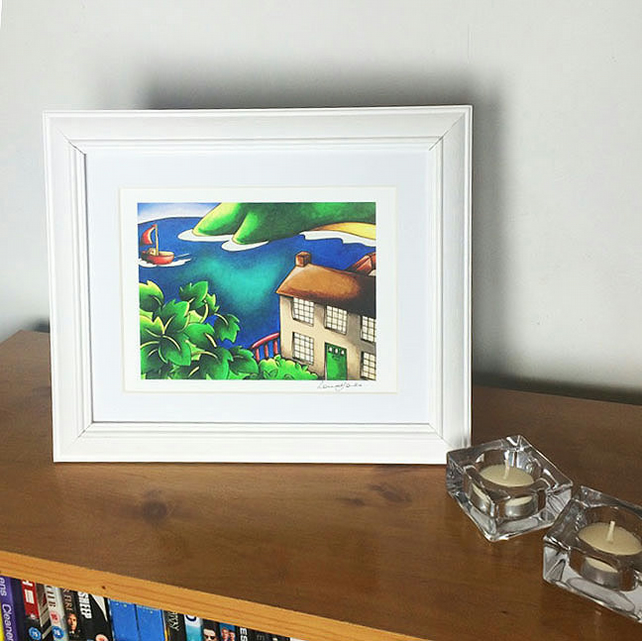 "Dylan's Boathouse Mounted Print 8"" x 10"" Unframed"