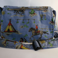 Handmade changing, nappy, diaper bag.11 pockets. Changing mat.