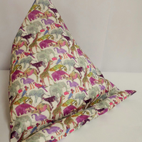 Large Tablet, i pad bean bag stand. Liberty of London pink zoo cotton fabric.