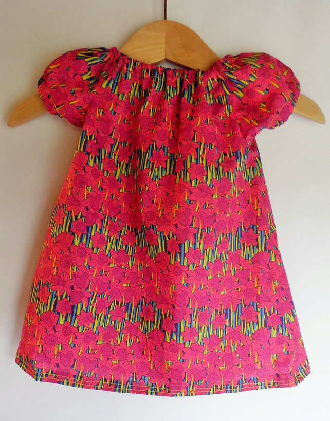 Baby dress 0-3 months. Liberty of London Hubert tana lawn. With nappy cover.