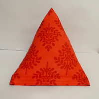 Modern Moda trees  pyramid doorstop. Unfilled.