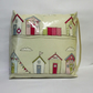 Toddler booster bean cushion 9cm . Beach hut oilcloth. With Ties.
