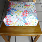 Toddler booster bean cushion 9cm . Cath Kidston Daisies oilcloth. With Ties.