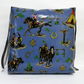 Toddler booster bean cushion 9cm . Cowboys and Indians oilcloth. With Ties.