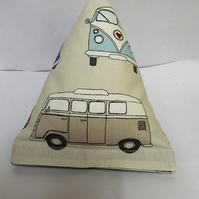 Modern VW campervan  pyramid doorstop. Unfilled.