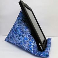 Large Tablet, i pad bean bag stand. Liberty Eben cotton fabric.