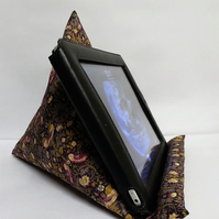 Large Tablet, i pad bean bag stand. Libertyof London Strawberry thief fabric.