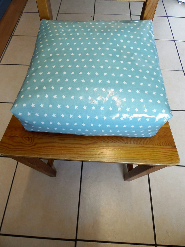 Toddler booster bean cushion 9cm . Wipeable pvc stars. With Ties.