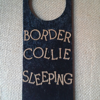 Border Collie sleeping sign