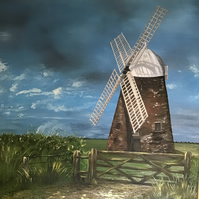Halnaker windmill painting