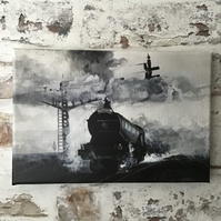Flying Scotsman canvas print