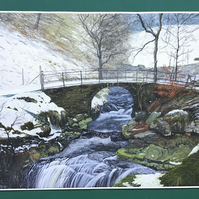 Crimsworth beck yorkshire painting
