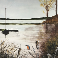 Kingfishers rest painting