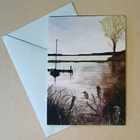 Kingfishers rest - card