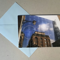 London reflection card