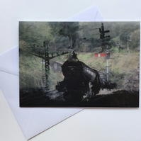 Flying Scotsman greeting card