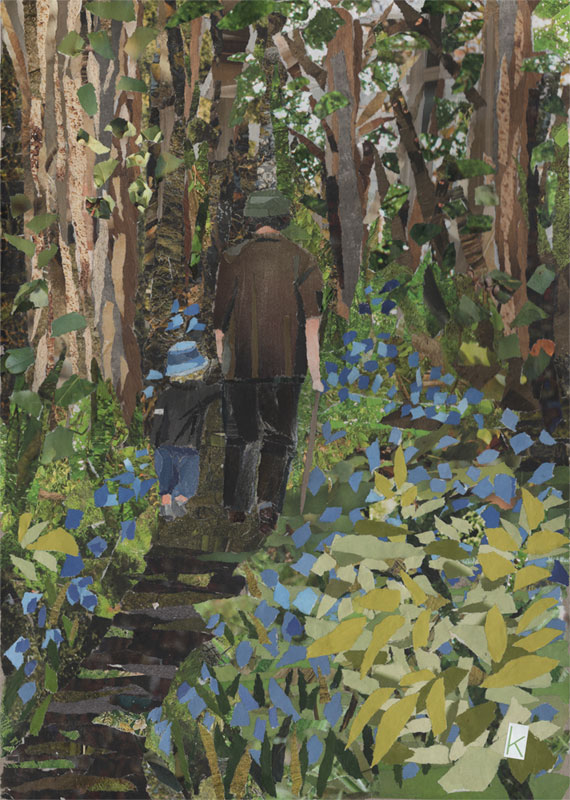 Art Card A6 - Among The Bluebells