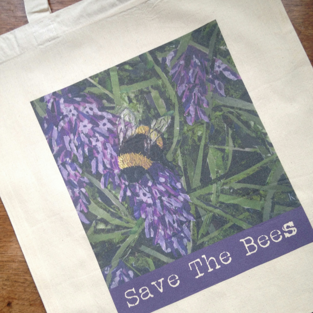 Save The Bees Tote Shopping Bag