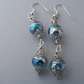 Blue and Silver Sparkly Earrings