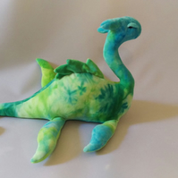 Loch Ness Monster Plushie - Blue-Green Tie-Dye