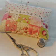 Pin Cushion, Patchwork Pincushion, Quilted Pin Cushion