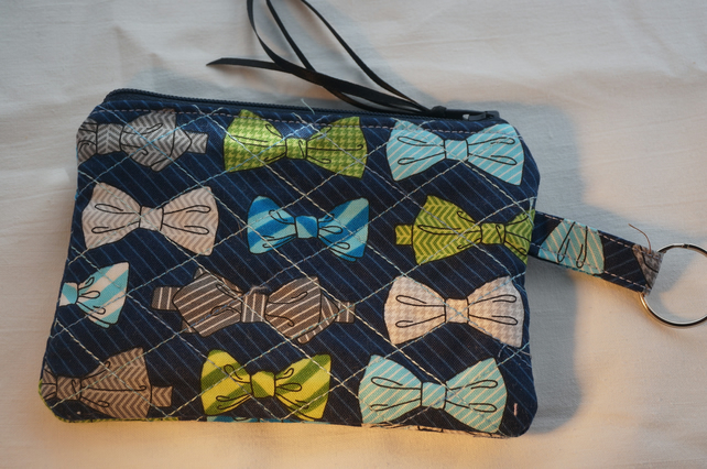Coin Purse, Quilted Zipped Purse.