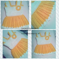 Baby Crochet Dress For Premature And New Born Baby Girl