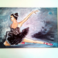 Ballet Dancer  Black Tutu, Black Swan Painting, Red Shoes, Swan Lake Ballerina