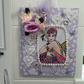 WALL Decoration Shabby Chic Decorative lace Flowers And Gems On A Canvas Board