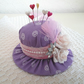 Hat Pincushion In Deep Lilac Fabric Gift For Ladies Sewing Room Item Folksy UK