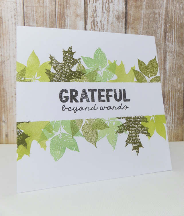 Thank you card autumn leaves
