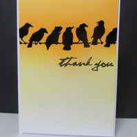 Thank You Crows Card