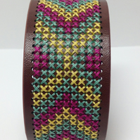 Cross Stitch Bracelet