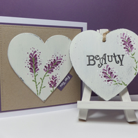 Lavender Heart Gift Set